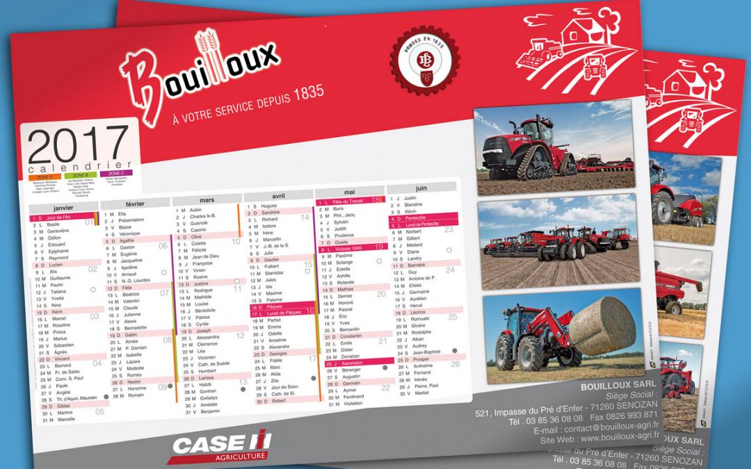 Calendriers 2017 Société Bouilloux