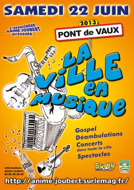 Programme Ville en musique de Pont de Vaux