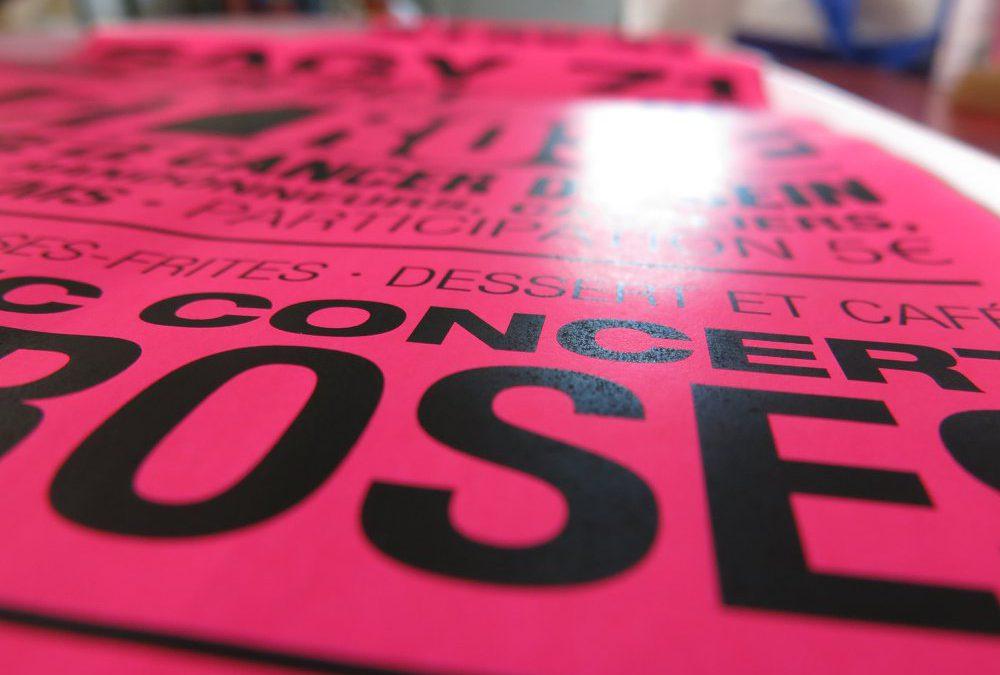 En OCTOBRE, c'est tout ROSE à SAGY !