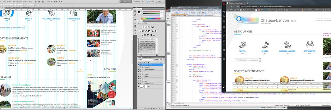 Création des pages HTML Bootstrap depuis une charte graphique en PSD